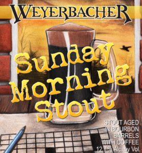 Weyerbacher Brewing's Sunday Morning Stout